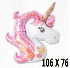 Giant Unicorn Foil Balloon Birthday Party Magical Decoration Girls PINK DECORAT