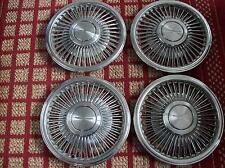 """1989-1991 Ford T-Bird     Set of Four 15"""" OEM Wire Hubcaps with Locks and Tool"""