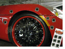 6 extraíble gran agujero de bala Vinilo coche Casco Stickers Calcomanías 4,5 Cm De Diámetro