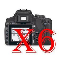 6 PZ PELLICOLA PROTEZIONE DISPLAY Canon EOS 400D PROTEGGI SCHERMO LCD