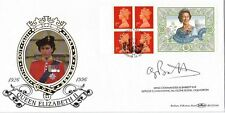 1996 QUEENS 70th B'DAY LABEL SIGNED WING COM BARRETT BENHAM FIRST DAY COVER SHS
