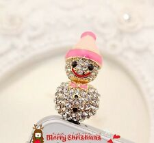 Diamond Snow Doll Anti Dust Plug for iPhone4s 5 & 3.5mm Earphone Jack CellPhone