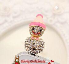 Diamond Snow Doll Anti Dust Plug for iPhone4s 5 & 3.5mm Earphone Jack CellPhone