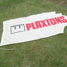More details for plaxtons coaches buses large vintage advertising flag embroidered cotton