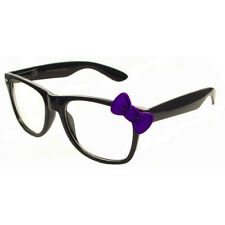 Black Glasses With Purple Bow Hello Kitty Nerd Accessory Adult