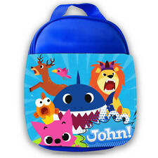 Personalised Baby Shark Kids Lunch Bag Any Name Childrens Boys School Snack 2
