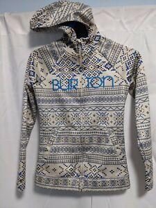 Women's Burton WB Peak Patterned Full Zip  Fleece Lined Hoodie Size: XS