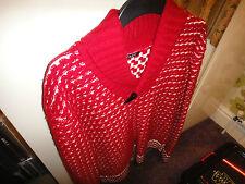 Nicole Farhi Red Knitted Cardigan Size M Rare!!!!