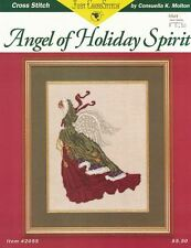 Just Cross Stitch ANGEL OF HOLIDAY SPIRIT Pattern for Counted Cross Stitch #2055
