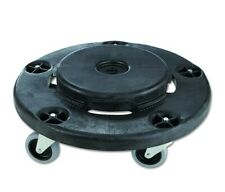 Rubbermaid  Twist On/Off Round Dolly, Black (pack of 2)