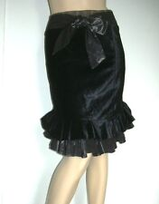 NEW ROBERTA SCARPA COUTURE MUST HAVE RUFFLE  SKIRT Sz I 44, US 10