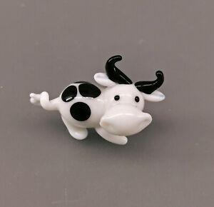 9912199-x Pequeño Vidrio Figura Vaca 2 , 5x4cm Soplado
