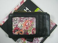 Travelon RFID Blocking Leather ID and Card Holder Black Wallet