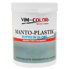 M-Plastik Resina Finitura All'Acqua Per Pavimenti Interni Garage Colori Ral Kg 1