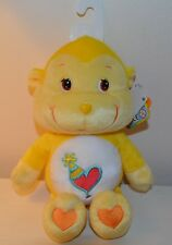 Peluche BISOUNOURS Cousin Monkey care Bears COLLECTOR 25cm NEUF 2003 Play Along