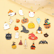 More details for 10pcs/lot halloween ghost pumpkin witch mummy enamel charms diy alloy pendalogh
