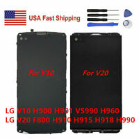 LG V10 / V20 F800 H910 H915 LCD Display Screen Touch Digitizer Assembly Frame