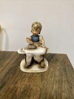 "Vintage Napco Girl Figurine ""Ironing"" A2626A Label 5""H  Japan Ceramic"