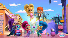 Shimmer and Shine 3 Edible A4 Size Kids Birthday Cake Icing Sheet Topper