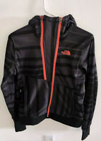 The North Face Women's Hoodie Black Stripes Double Zipper S
