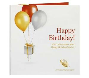 2017 S US Mint Happy Birthday Proof 5 Coin Set (17RE) with Gift Card Folder