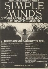 6/5/89Pgn42 Advert: Simple Minds Live At Murrayfield Edinburgh Aug'89 7x5