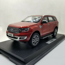 Diecast Model Car 1:18 Ford Everest Endeavour 2019 Red SUV Rare Alloy Toy Gifts
