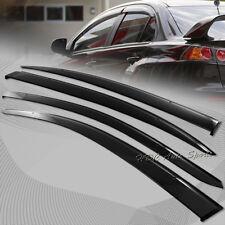 For Mits. Lancer Evolution X 10 Smoke Tint Sun Shield Door Window Visor W/ Clips