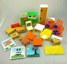 Puppenstube Puppenhaus Möbel & Zubehör 26 Teile Vintage