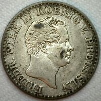 1849 A German States Prussia 2 1/2 Silver Groschen Coin KM #444 Silber  K1
