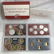 2009 US Mint Silver Proof Set 18 Coins with Original Box and COA