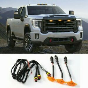 For GMC Sierra 2500 HD 2019-2021 Front Grille LED Light Grill Cover Durable AU