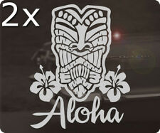2x Pièce Tiki TIKIS Autocollant Sticker HOT ROD Hawaii Maui Surf loose Aloha Hang