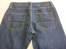 036 MENS EX-COND JAG STRAIGHT FIT DK BLUE WASH JEANS 34 SHORT $120.