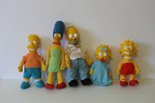 Vintage 1990 The Simpsons Bart Homer Lisa Marge Maggie Plush Doll Plastic Head