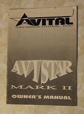 AVITAL AVISTAR MARK 2 OWNERS MANUAL INSTRUCTIONS