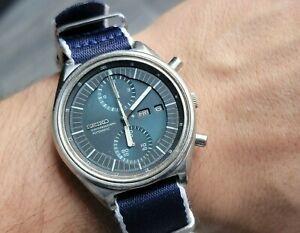 Vintage SEIKO 6138-3002 aka JUMBO Chronograph Automatic Blue Dial - Cal 6138B