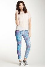 NWT HUDSON Nico Super Skinny in Enamelized Floral Confetti Stretch Jeans 25 $176