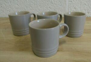 Set of 4 Le Creuset Light Grey Stoneware Espresso Demitasse Mugs (Hospiscare)