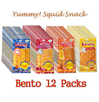 12 Pcs X 5g BENTO SQUID SNACK DELICIOUS SWEET SPICY FLAVOR THAI DRIED FOOD