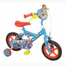 """OFFICIAL PAW PATROL 12"""" BIKE KIDS OUTDOOR FUN AGE 3 + REMOVABLE STABILISERS"""