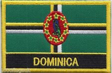 Dominica Flag Embroidered Patch Badge - Sew or Iron on