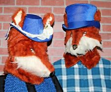 Handmade Couples Halloween Costume Mr & Mrs FOX Head Masks One of a Kind
