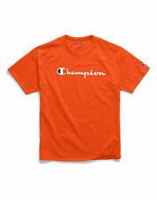 T-Shirt Mens Champion Jersey Tee Classic Script Logo Athletic Fit 100% Cotton