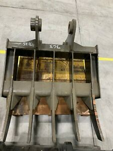 "New 42"" Heavy Duty Excavator Rake to fit a Kobelco SK160"