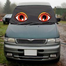 Mazda Bongo Window Screen Cover Wrap Black Blind Camper Van Eyes Lashes Orange
