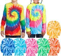 Youth T-Shirt Tie Dye LONG SLEEVE Boys Girls Kids Tee XS, S, M, L, XL NEW