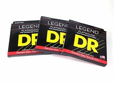 DR Guitar Strings 3 Pack Electric Legend Flat Wound Stainless Steel 11-48