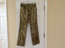 Roccobarocco gold metallic jeans new