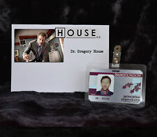 """TV SERIES HOUSE MD EXACT REPLICA COLLECTOR PROP """"GREGORY HOUSE"""" HOSPITAL ID"""